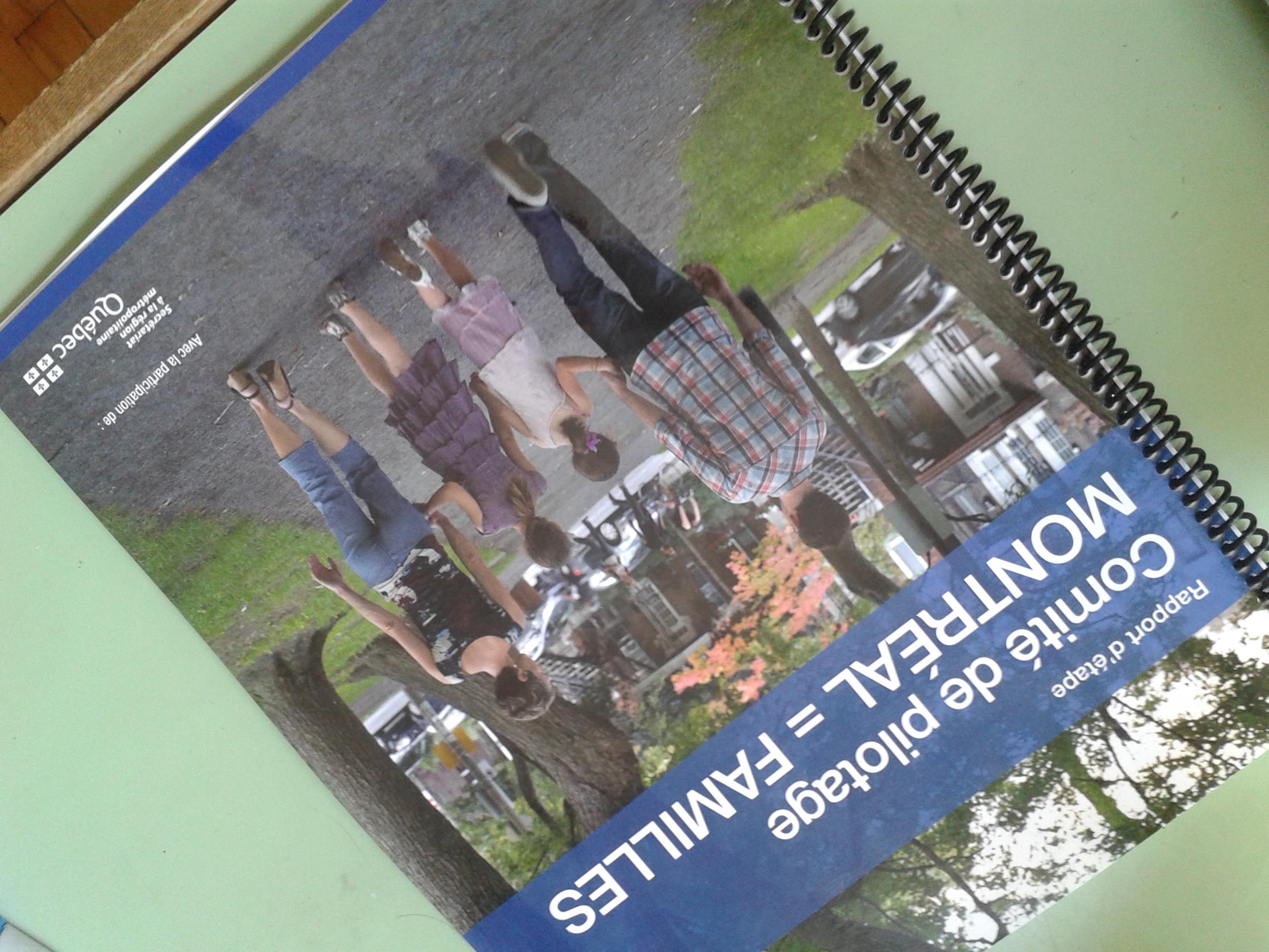Rapport comité Montreal=Familles